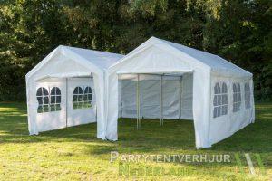 Partytent 6x6 meter voorkant huren - Partytentverhuur Amsterdam