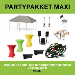 Maxi partypakket huren in Amsterdam