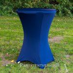 Statafel met rok donkerblauw huren - Partytentverhuur Amsterdam