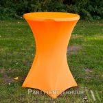 Statafel met rok oranje huren - Partytentverhuur Amsterdam