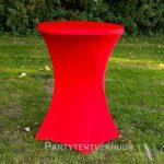 Statafel met rok rood huren - Partytentverhuur Amsterdam