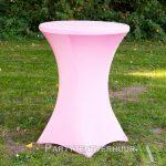 Statafel met rok roze huren - Partytentverhuur Amsterdam